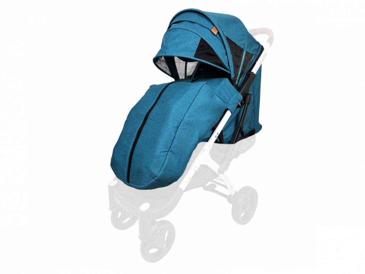 Текстиль для колясок Yoya Plus Изумрудный универсальный моделям Plus Premium, Plus Pro, Plus Max, Plus 2, 3, 4