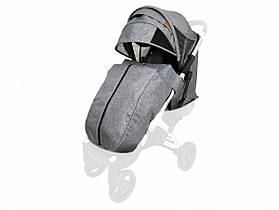 Текстиль для колясок Yoya Plus Сірий Водонепроникний універсальний моделей Plus Premium Plus Pro Plus