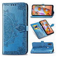 Чехол Vintage для Samsung Galaxy M11 / M115 книжка кожа PU голубой