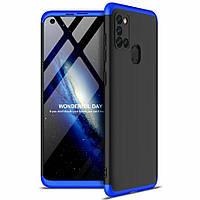 Чехол GKK 360 для Samsung Galaxy A21s 2020 / A217F Бампер оригинальный Black-Blue