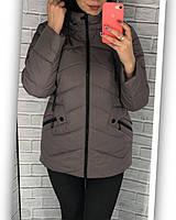 Куртка женская бежево-розового цвета размеры с 50 по 60, фото 1
