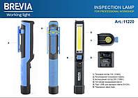 Фонарь для СТО автомобильный светодиодный для кемпинга Brevia Pen Light 2W COB+1W LED Ручной фонарик