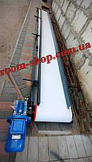 Стрічковий транспортер, з харчовою плівкою, конвеєр. ширина 400 мм, стрічковий конвеєр, харчова стрічка, фото 2
