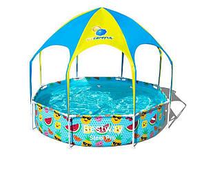 Детский каркасный бассейн с навесом 244х51 см Bestway 56432 с душем