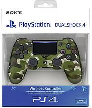 Джойстик геймпад Sony PS 4 DualShock 4 Wireless Controller Green Cammo ( зелений камуфляж ) репліка