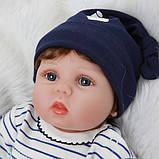 Силиконовая коллекционная кукла Reborn Doll Мальчик Вовочка 55 см (200), фото 3