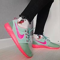 Женские кроссовки Nike (Найк). Текстильные бирюзовые кроссовки летние