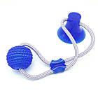 ОПТ Многофункциональная игрушка для собак канат на присоске с мячом, фото 3