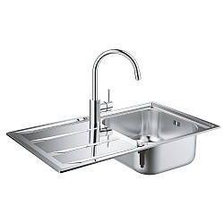 Набір Grohe мийка кухонна K400 31570SD0 + Concetto змішувач 32663001