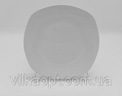 Тарілка біла квадратна для 2-го №8 18,5 див. (12 шт. в уп.)