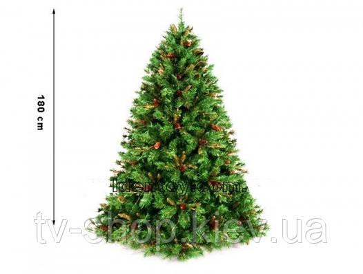 Ёлка с шишками Berkshire Pine 180см (901 ветка)