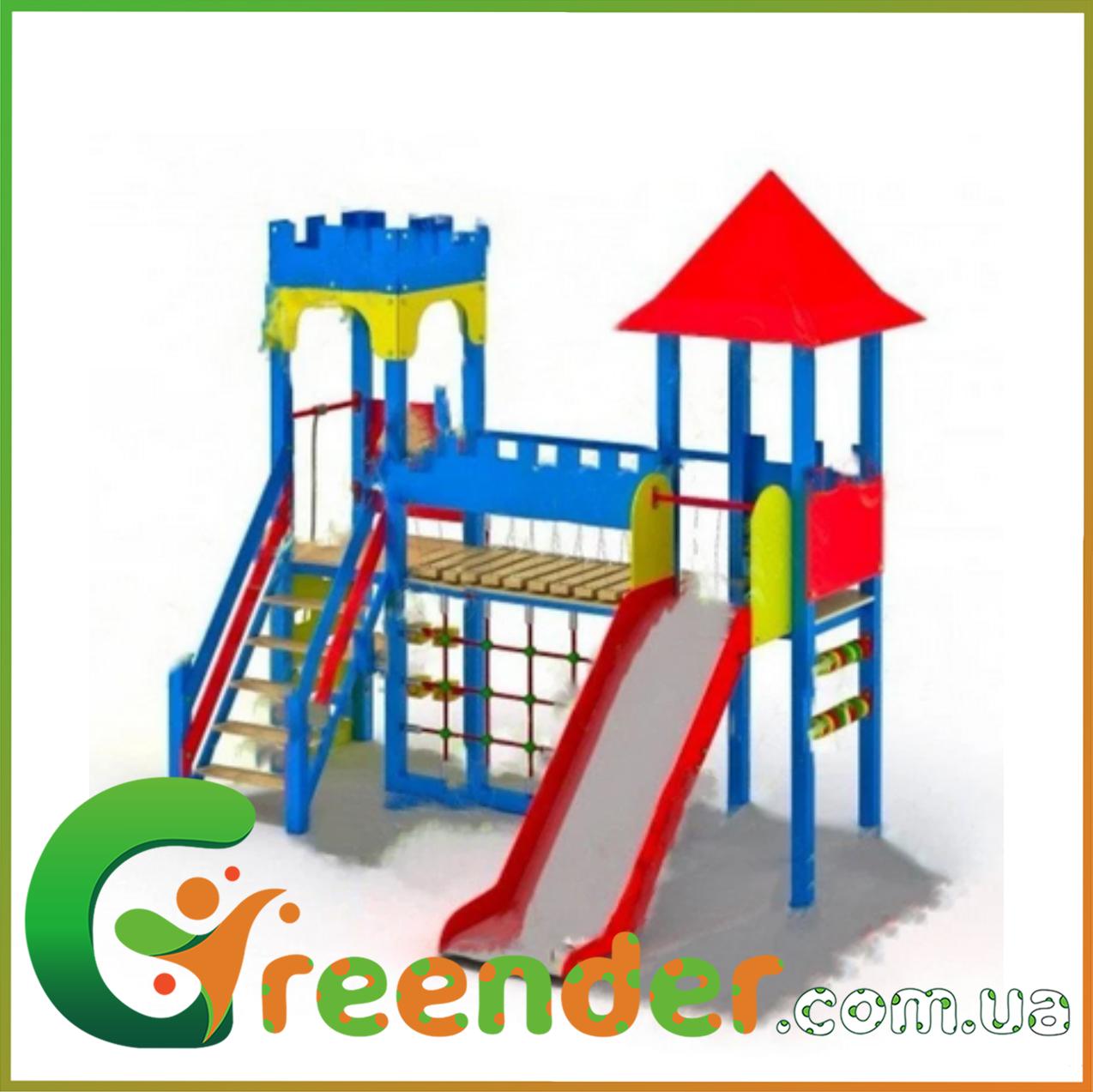 Деревянный детский игровой комплекс Две башни