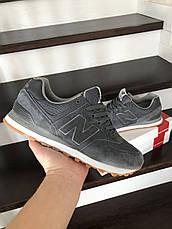 Мужские кроссовки New Balance 574 замшевые,серые, фото 2