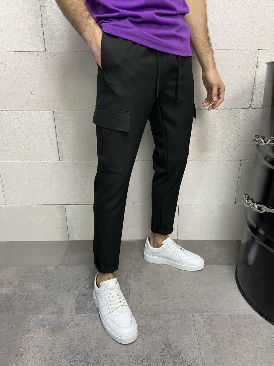😜Спортивні штани - Чоловічі спортивки / чоловічі спортивки чорного кольору з кармаами