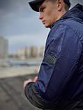 """Мужская спортивная ветровка """"Anti-wind"""" синий камуфляж, фото 2"""