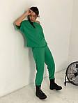 Женский спортивный костюм, турецкая двунить, р-р универсальный 42-46 (зелёный), фото 2