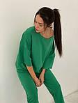 Женский спортивный костюм, турецкая двунить, р-р универсальный 42-46 (зелёный), фото 3