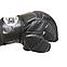 Перчатки для смешанных видов единоборств ММА кожа черные XL, BOXER, фото 3