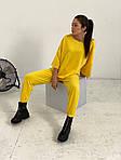 Женский спортивный костюм, турецкая двунить, р-р универсальный 42-46 (жёлтый), фото 2
