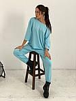 Жіночий спортивний костюм, турецька двунить, р-р універсальний 42-46 (блакитний), фото 3