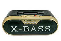 Беспроводная колонка с солнечной панелью Golon RX BT190S золотая, блютуз колонка с радио портативна колонка