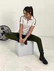 Жіночий спортивний костюм, турецька двунить, р-р 42-44; 46-48 (чорний+хакі), фото 2