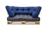 Подушки OutDoor/Blue , подушки для садовой мебели , мебель loft, диван из поддонов в стиле лофт