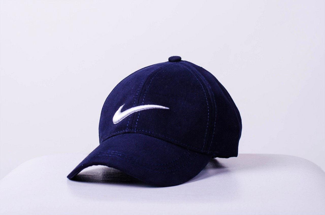 Кепка Nike мужская | женская найк синяя белое лого