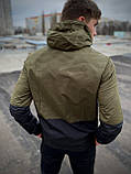 """Чоловіча спортивна куртка """"Anti-wind"""" камуфляж - чорна, фото 2"""