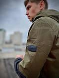 """Чоловіча спортивна куртка """"Anti-wind"""" камуфляж - чорна, фото 3"""