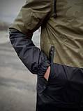 """Чоловіча спортивна куртка """"Anti-wind"""" камуфляж - чорна, фото 4"""