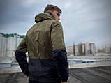 """Чоловіча спортивна куртка """"Anti-wind"""" камуфляж - чорна, фото 5"""
