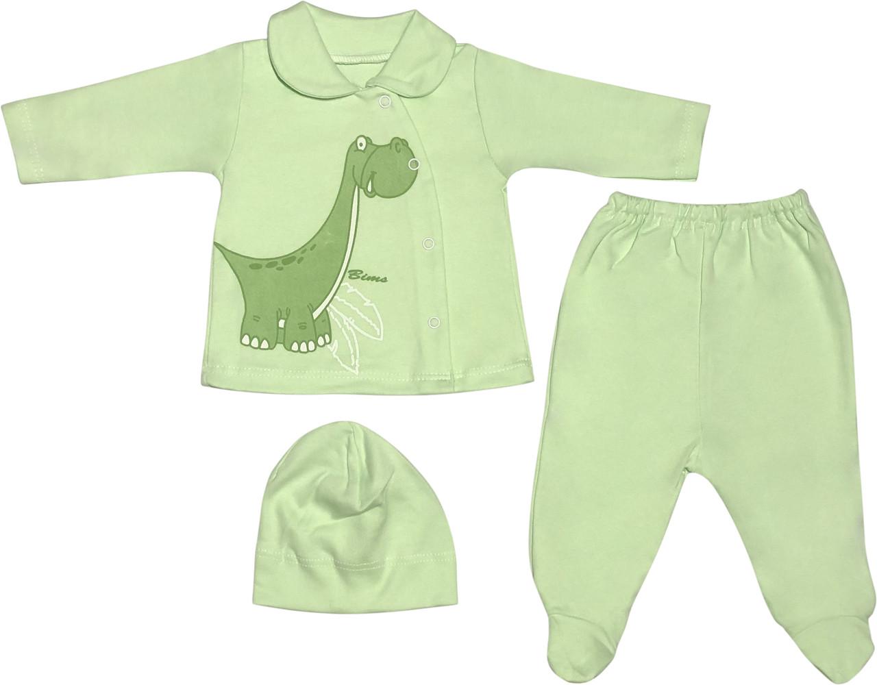 Костюм для новонароджених малюків зростання 56 0-2 міс на хлопчика дівчинку комплект дитячий трикотажний салатовий