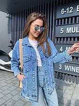 Женская куртка, джинс - 100% коттон, р-р 42-44; 44-46 (синий)