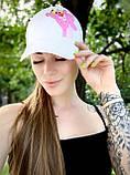 Кепка женская белая с принтом Pink Panther розовая пантера, фото 2