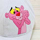 Кепка женская белая с принтом Pink Panther розовая пантера, фото 3