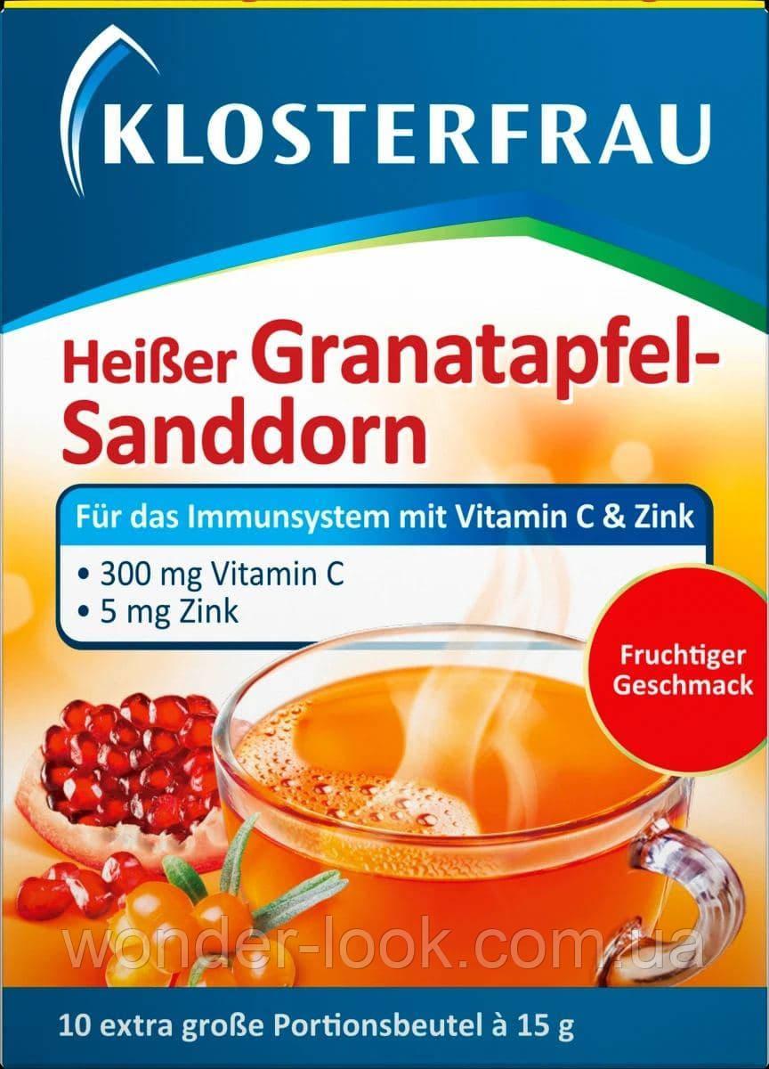 Klosterfrau heiber, гарячий напій з вітаміном с і цинком, Німеччина, 10 шт