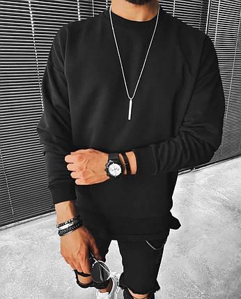 Світшот чоловічий oversize чорного кольору, фото 2