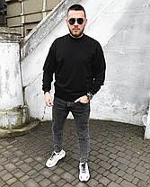 Світшот чоловічий oversize чорного кольору, фото 3