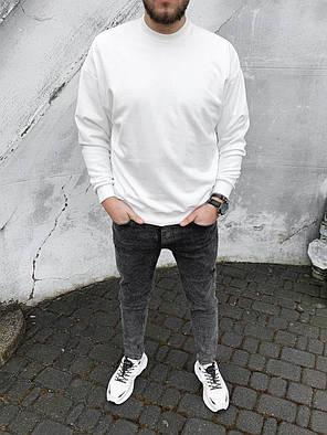 Свитшот мужской oversize белого цвета, фото 2