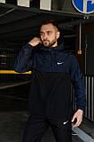 Анорак Nike President Мужской осенний весенний Синий Черный найк ветровка, фото 2