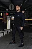 Анорак Nike President Мужской осенний весенний Синий Черный найк ветровка, фото 6