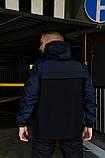 Анорак Nike President Мужской осенний весенний Синий Черный найк ветровка, фото 9