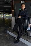 Анорак Nike President Мужской осенний весенний Синий Черный найк ветровка, фото 10
