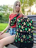 Рюкзак Avocado Жіночий   Чоловічий Міський для ноутбука авокадо чорний, фото 3