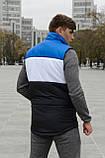 Жилетка чоловіча осіння весняна Intruder Brand 'Koloritna' синя - біла - чорна безрукавка, фото 3