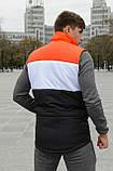 Жилетка мужская осенняя весенняя Intruder Brand 'Koloritna' оранжевая - белая - черная безрукавка, фото 4