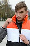 Жилетка мужская осенняя весенняя Intruder Brand 'Koloritna' оранжевая - белая - черная безрукавка, фото 6