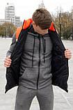 Жилетка мужская осенняя весенняя Intruder Brand 'Koloritna' оранжевая - белая - черная безрукавка, фото 7