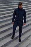 Куртка Softshell V2.0 мужская синяя демисезонная Intruder + Ключница в подарок, фото 2